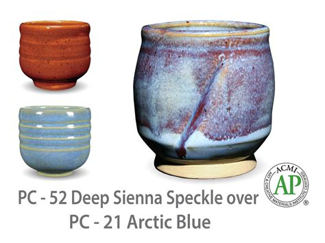 amaco ceramics amaco potter s choice layered glazes pc 21 arctic blue and