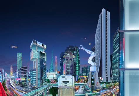 Working with Glen Wexler to produce future cities for ...