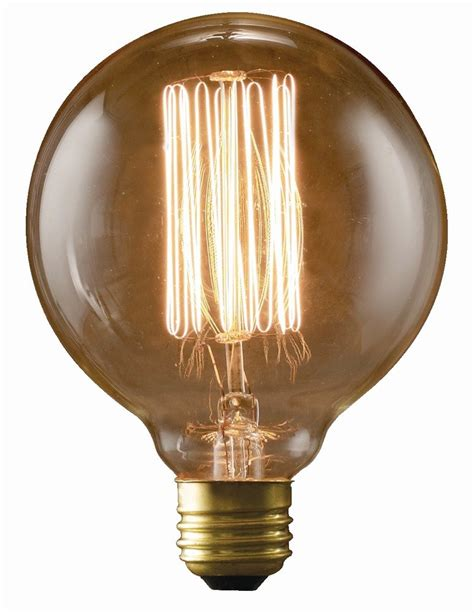 edison light bulb bulbrite nos40g30 40w nostalgic g30 edison globe with