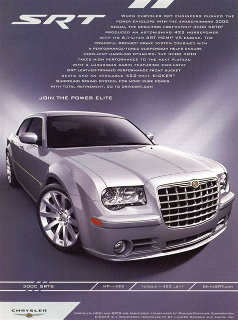 chrysler  srt advertisement classic cars today