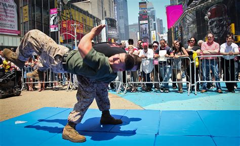filemartial art demo   marine day times square