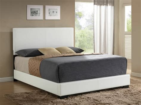 Leather Headboard Bed Frame by White Leather Headboard Homesfeed
