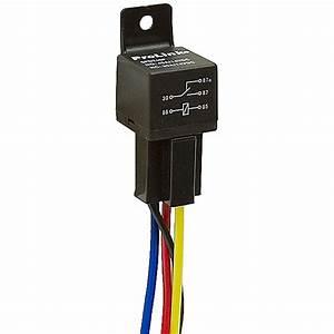 12 Volt Dc Spdt 40 Amp Relay With Socket Base