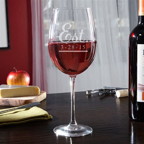 Personalized Barware Glasses by Well Established Personalized Wine Glass