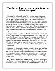 Why driving license is an important event in life of teenagers