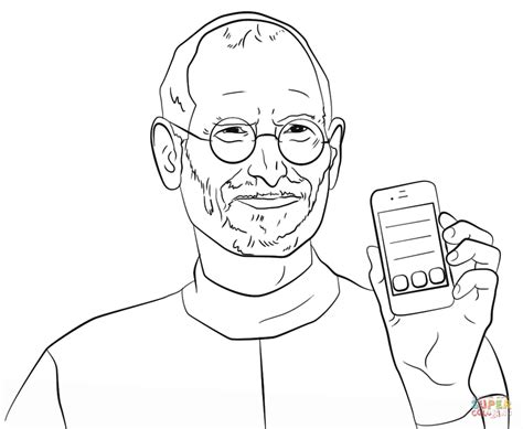 steve jobs coloring page  printable coloring pages