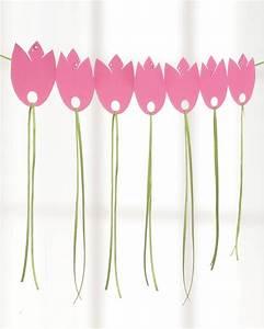 Girlande Basteln Vorlage : tulpen girlande aus papier christine pinterest basteln fr hling basteln fr hling kinder ~ Watch28wear.com Haus und Dekorationen