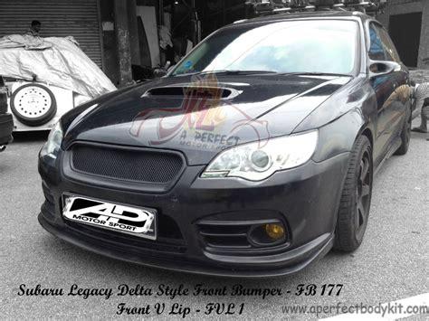 subaru legacy delta style front bumper front  lip