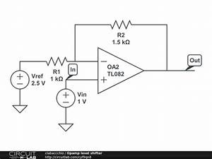 op amp analog voltage level conversion level shift With opamp levelshifting