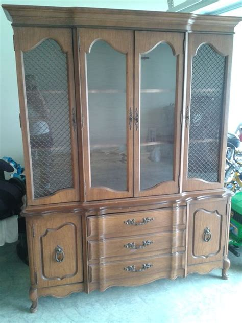 craigslist china cabinet before and after the craigslist china cabinet goes blue