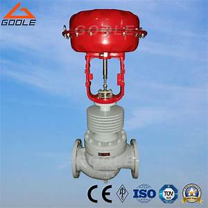 China Steam Used High Temperature Pneumatic Globe Control