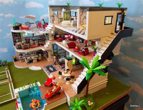 extension villa moderne playmobil deco house 5574 j s playmobil
