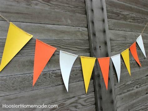 candy corn banner quick craft hoosier homemade