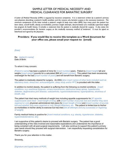 sample letter  medical necessity  medical clearance