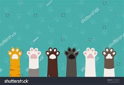Dog Cat Cartoon Paws Paw Legs Wallpapers
