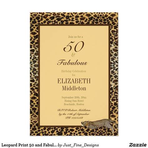 leopard print   fabulous elegant birthday invitation