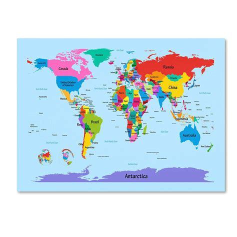 childrens world map  print printable  degree