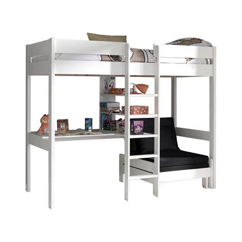 mezzanine canap acheter le lit mezzanine lena blanc