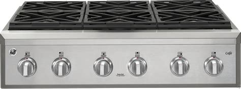 ge cgusehss  natural gas rangetop   edge  edge reversible burners   btus