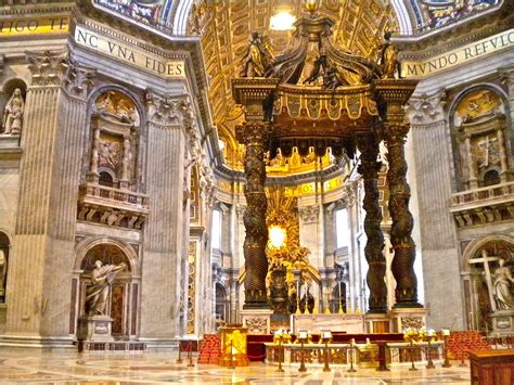 Bernini Baldacchino by St S Baldachin Baroque Vatican