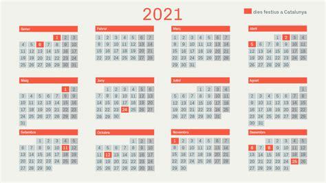 Disponible el calendario laboral para el próximo año 2021 para las empresas asociadas a la asociación de empresarios polígono san cibrao. Calendari Laboral 2021 Barcelona | Empty Calendar