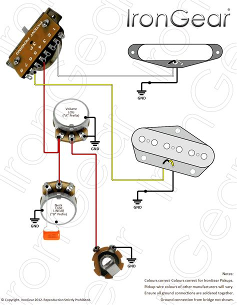 Fender Vintage Noiseless Telecaster Neck Pickup Wires