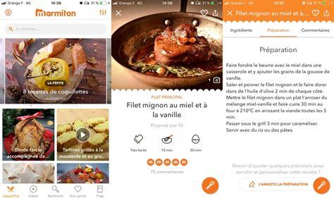 application recette cuisine les meilleures applications gratuites de cuisine pour