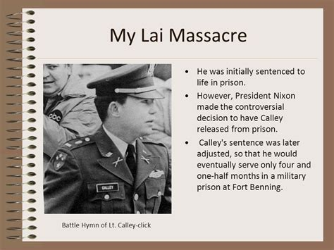 My Lai Massacre A Person Who Breaks The Rules Of War Is A