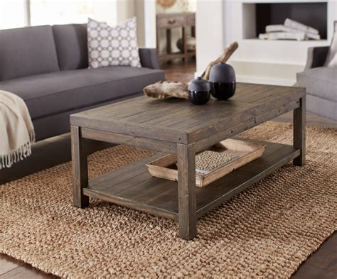 Rectangle wood coffee table is a functional piece of furniture that can express something about the personality and individuality of the owner. Modus Furniture - Craster Reclaimed Wood Rectangular Coffee Table in Smoky Taupe - 8S3921