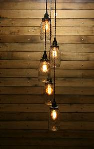 Jar pendant light mason chandelier