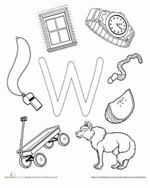 w is for worksheet education com