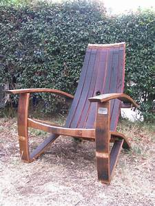 Wine and Whiskey Barrel Chairs are a great hit in San