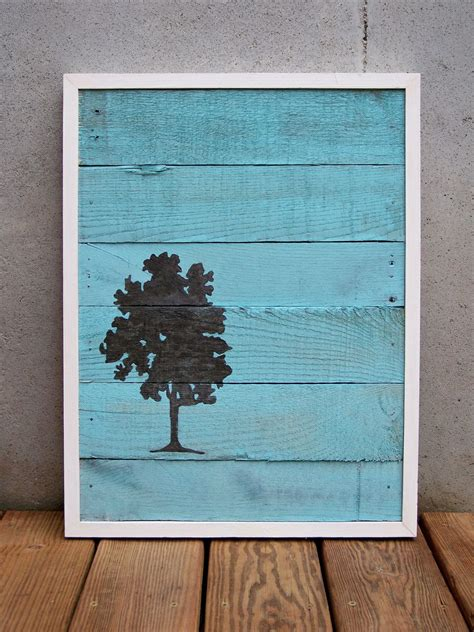 reclaimed wood paintings  rustic wood originals wall