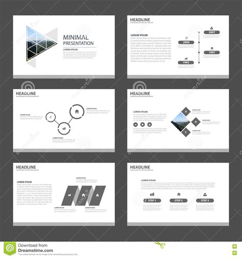 minimal  clean  templates infographic stock