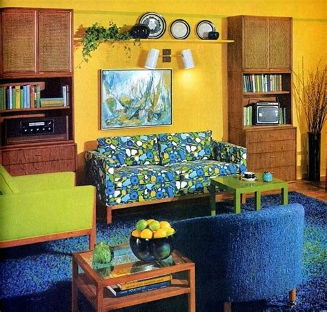 Retro Living Room Yellow by 292 Best Images About 70s Interiors On 1970s