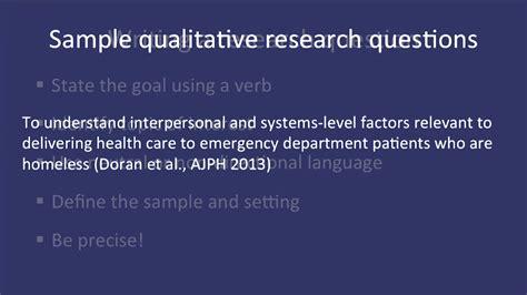 fundamentals  qualitative research methods developing  qualitative research question module