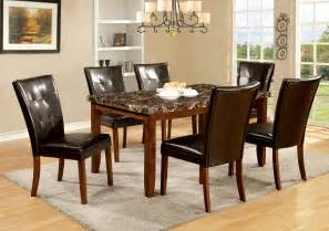 Marble Dining Room Set Furniture Of America Antique Oak Moralli Faux Marble Top Dining Table Home Furniture