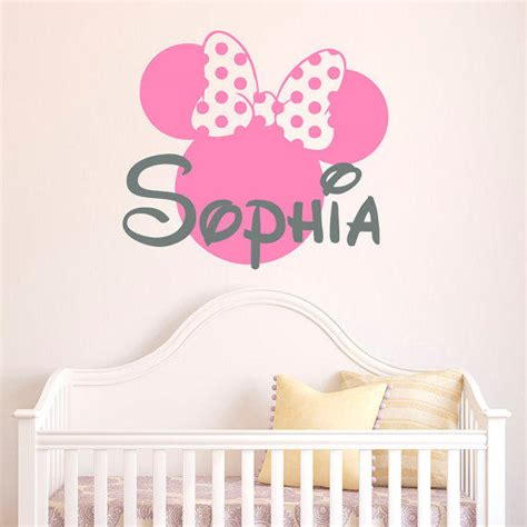 minnie mouse room decor for babies wall decal enchanting minnie mouse decals for walls