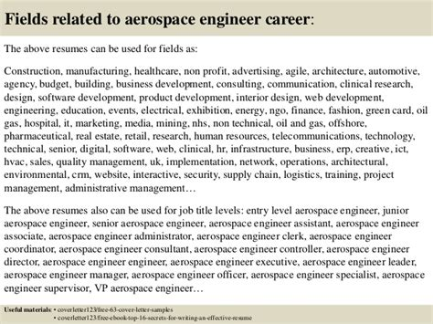 Aerospace Resume Cover Letter by Top 5 Aerospace Engineer Cover Letter Sles