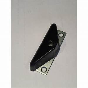 demi sabot sur platine pour porte de garage coulissante With guide pour porte de garage coulissante