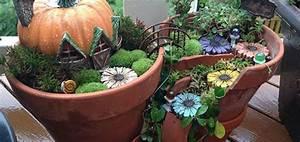 Creation Avec Des Pots De Fleurs : recyclez vos pots de fleurs cass s en jardins miniatures ~ Melissatoandfro.com Idées de Décoration