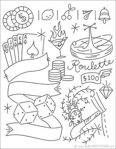SMALL PACK Embroidery Patterns - VIVA LAS VEGAS   Vegas