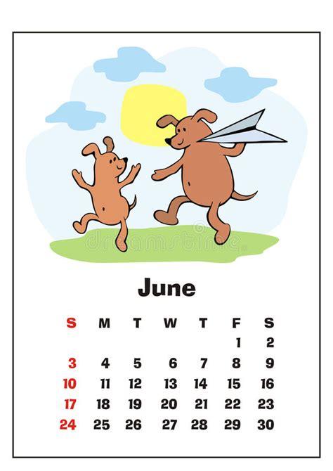 june  calendar stock vector illustration  illustration