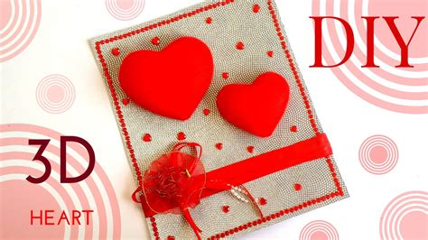 easy quick diy  heart design greeting card simple