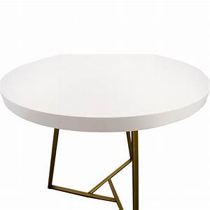 28 off west elm west elm white lacquer top cafe table With west elm white coffee table