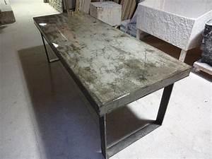 Concrete Dining Table H & H Bespoke Concrete Top Tables