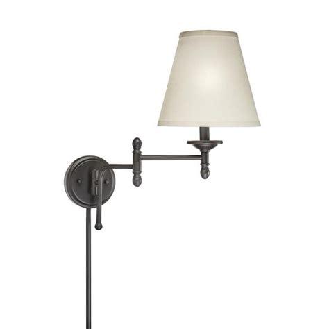 swing arm 1 light in bronze finish wall l