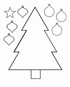 christmas tree color and cut printable activity page ...