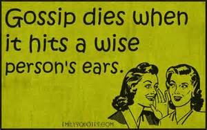 Wise Quotes About Gossip
