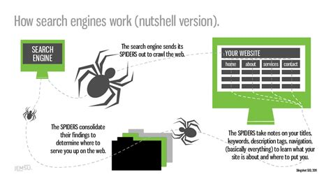 The Seo Works by How Search Engines Work Nutshell Version Visual Ly